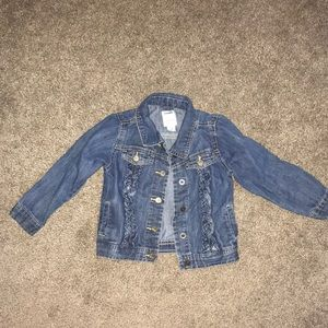 Girls ruffle jean jacket old navy 3t
